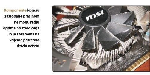 čiščenje ventilatora na računalu