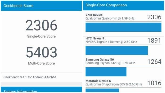 OnePlus 3 benchmark