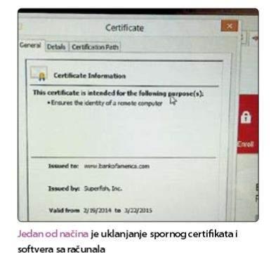uklanjanje certifikata na računalu