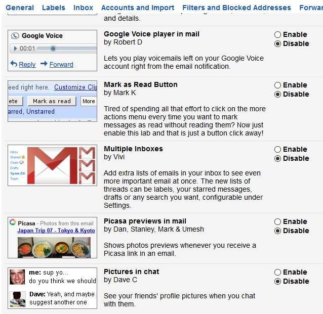 gmail trikovi