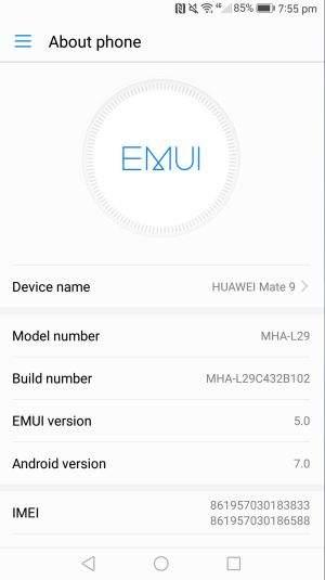 huawei mate9_emui