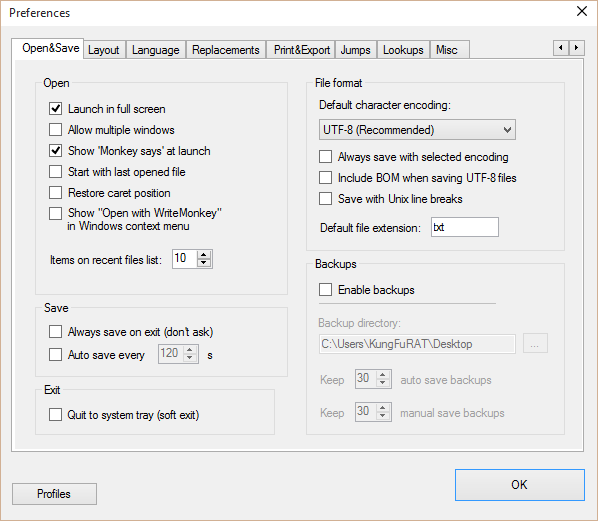 minimalistički tekst editor Writemonkey