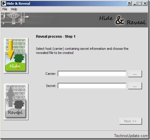 otrkivanje skrivene datoteke