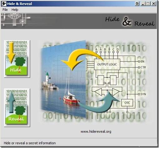 skrivanje datoteka unutar slike