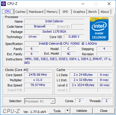 HP 250 G5 performanse