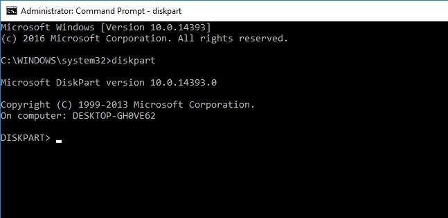 formatiranje diska preko diskpart