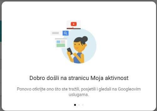google moje aktivnosti
