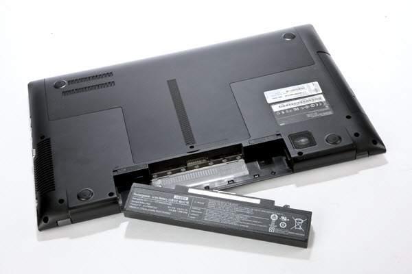 vađenje baterije iz laptopa