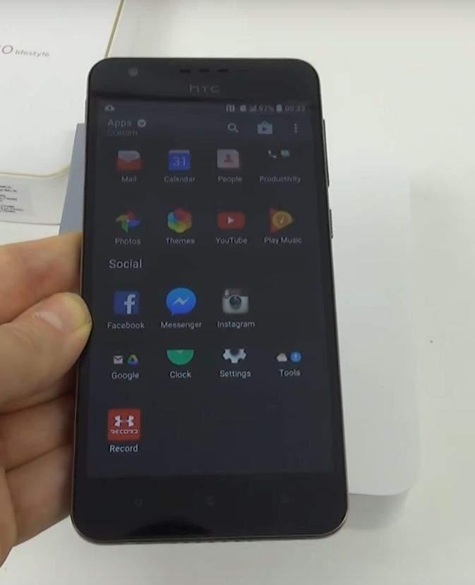 HTC 10 Desire Lifestyle ekran