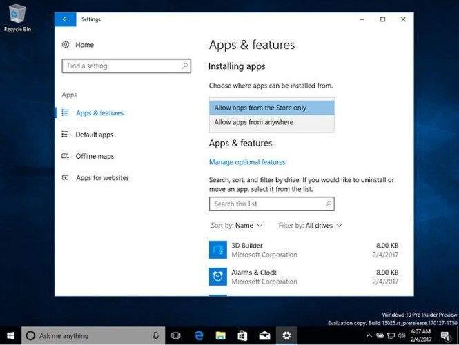Windows 10 cloud verzija