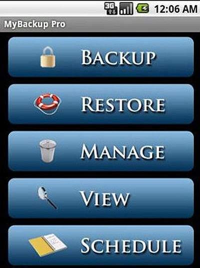 Android backup MyBackup