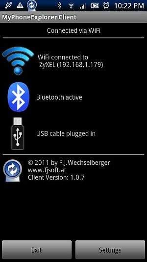 Android backup MyPhoneExplorer