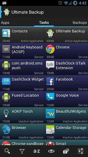 Android backup Ultimate Backup Lite