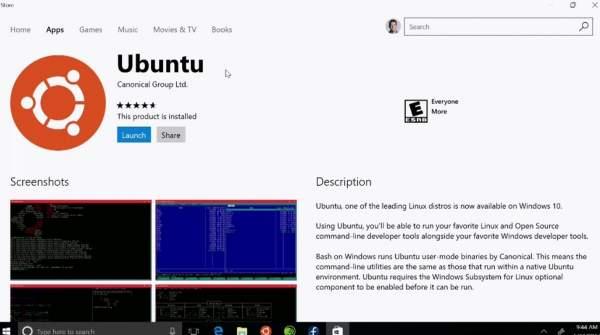 ubuntu na windows 10