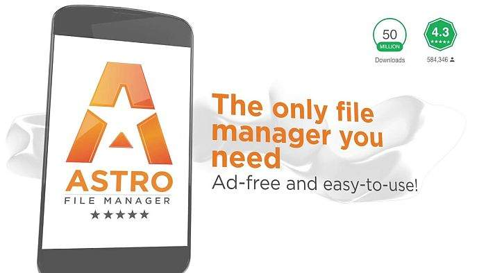 Astro File Manager.