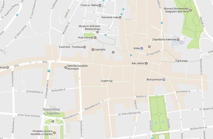 GOOGLE MAPS POPULARNA MJESTA