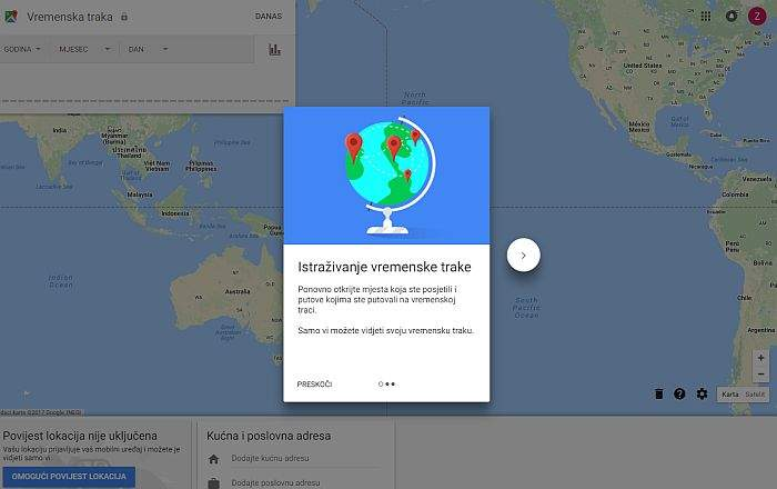 GOOGLE MAPS VREMENSKE TRAKE