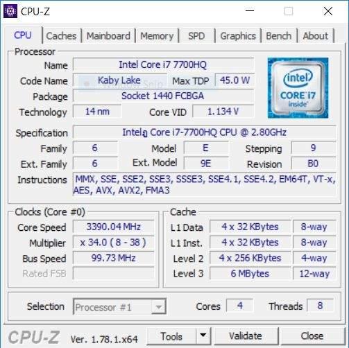 aspire vx 15 procesor