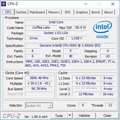 Intel-Coffee-Lake-6-Core CPU