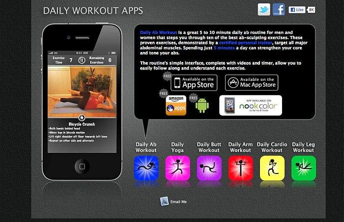 Daily Cardio Workout app