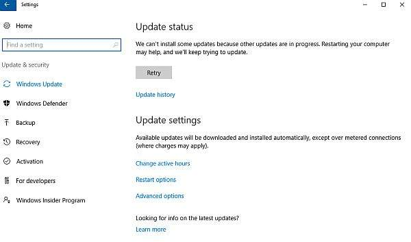 update sistema