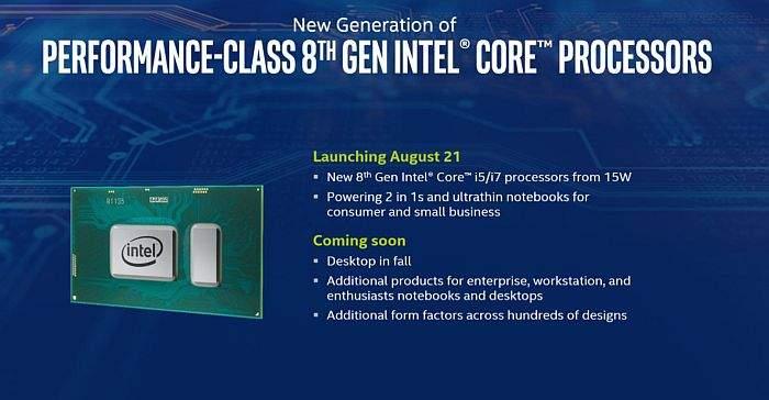 intel 8 generacija procesora