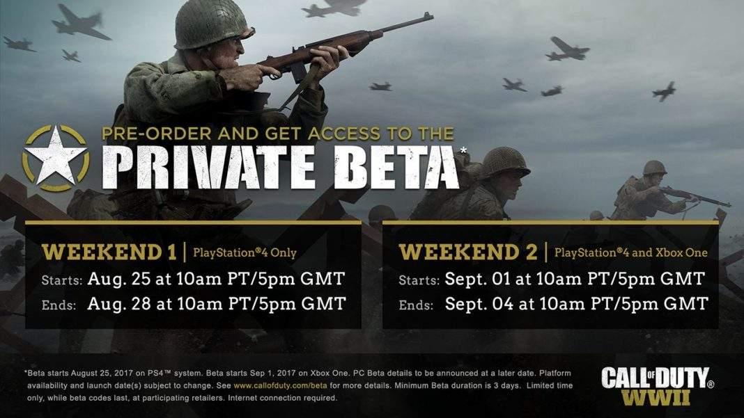 Call of Duty WW2 multiplayer beta