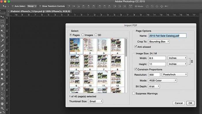ekstrakiranje slika iz pdf-a u photoshopu