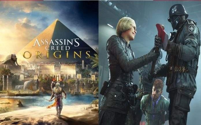 Wolfenstein II The New Colossus i Assassin's Creed Origins