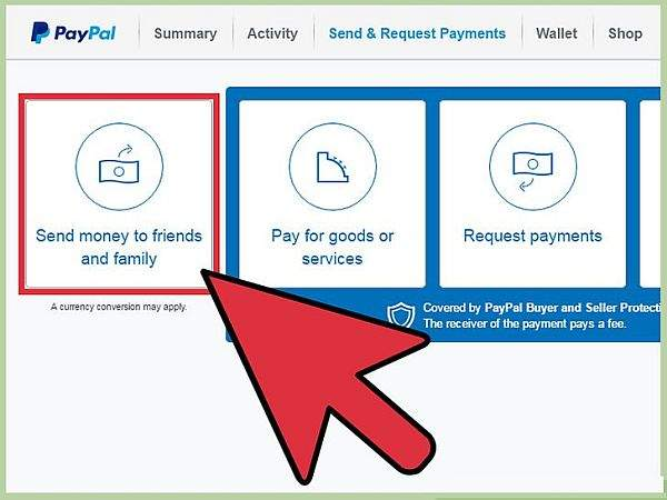 paypal friends and family option