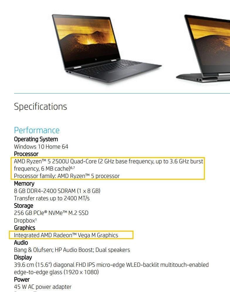 specifikacije HP-Envy-Ryzen-5-2600U-Vega-Mobile