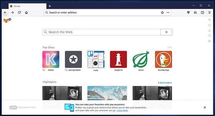 Firefox 57 izgled