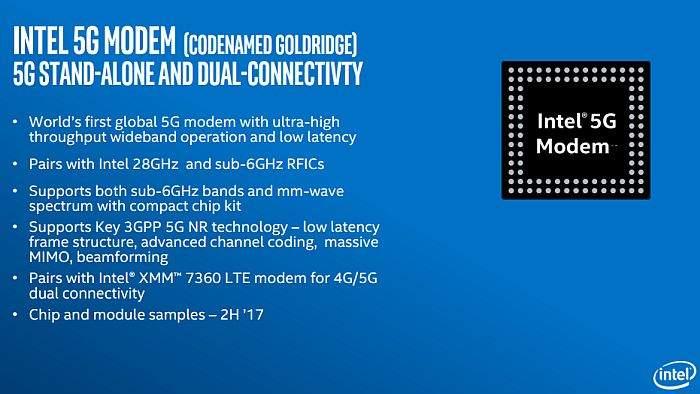 Intel-5G-modem karakteristike
