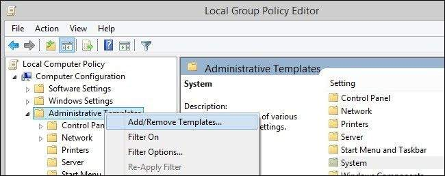 Local Group Policy Editora