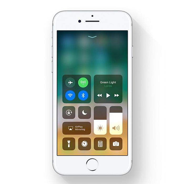 iphone 8 ios 11 control centre
