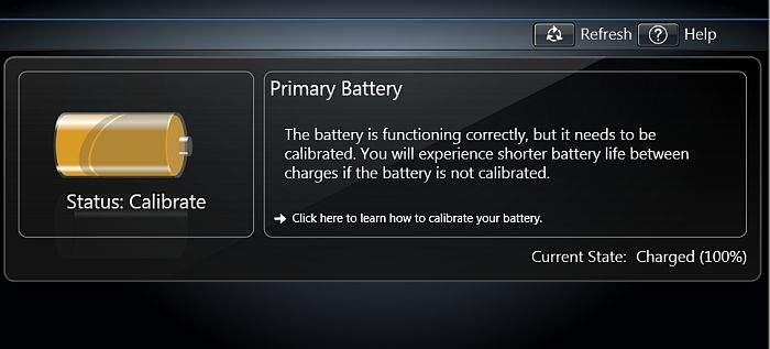 kalibriranje baterije na laptopu