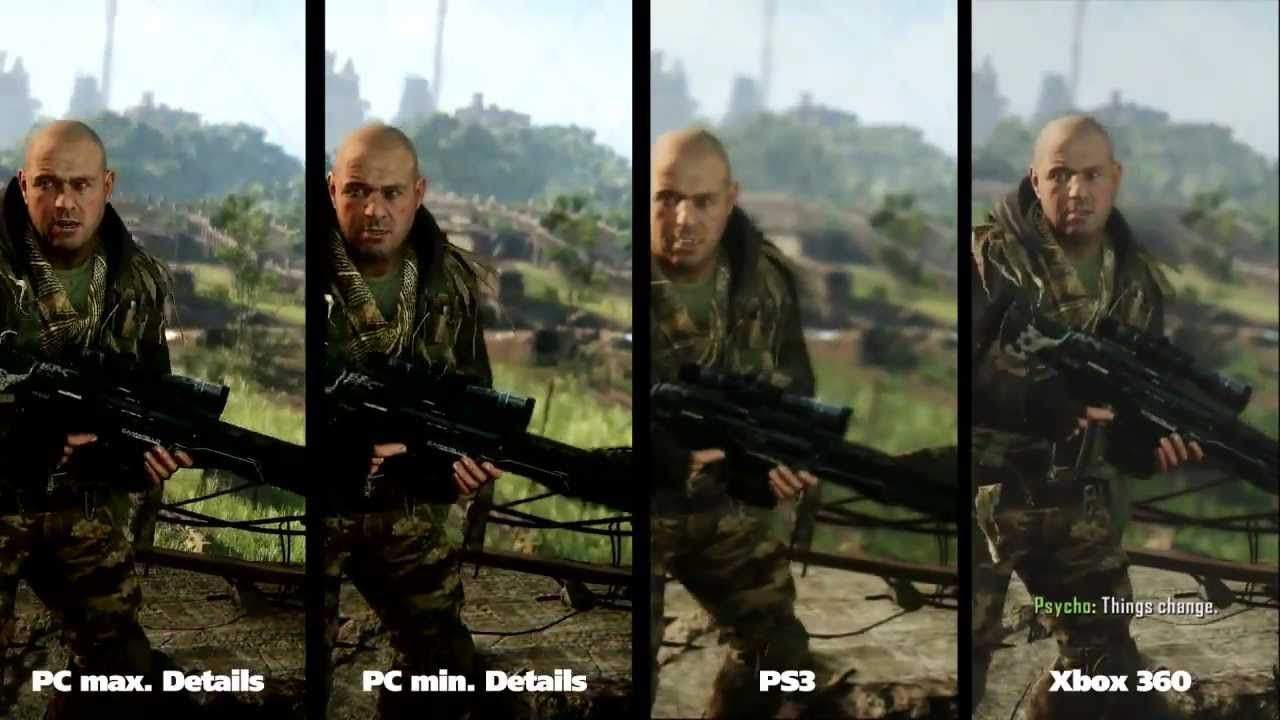 pc vs ps4 vs xbox grafika