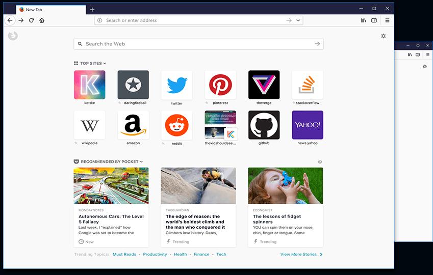 Firefox Quantum POCKET