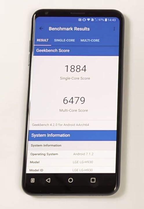 LG V30 benchmark