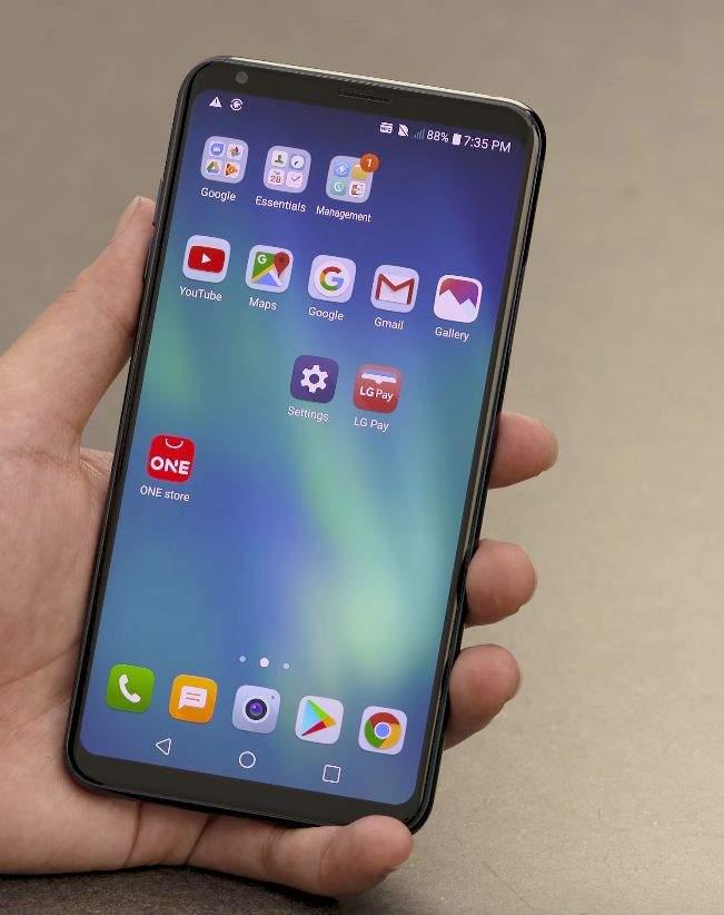 LG V30 ekran