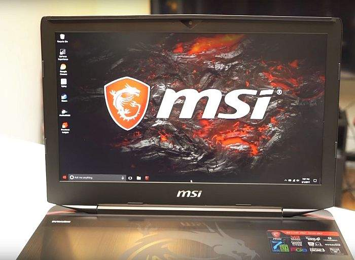 MSI GT83VR Titan SLI zaslon