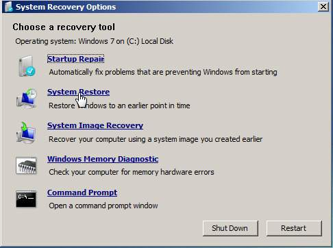 Windows recovery System