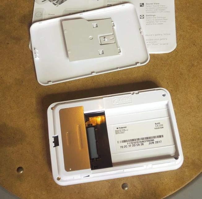 polaroid zip umetanje papira