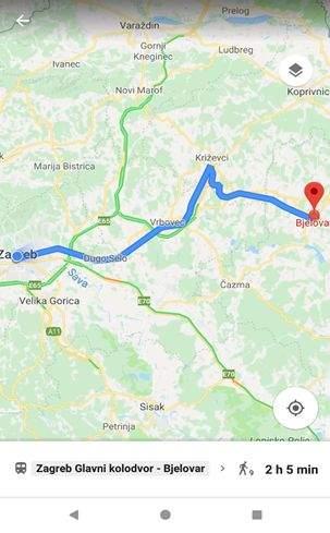 raspored vlakova na google mapsu