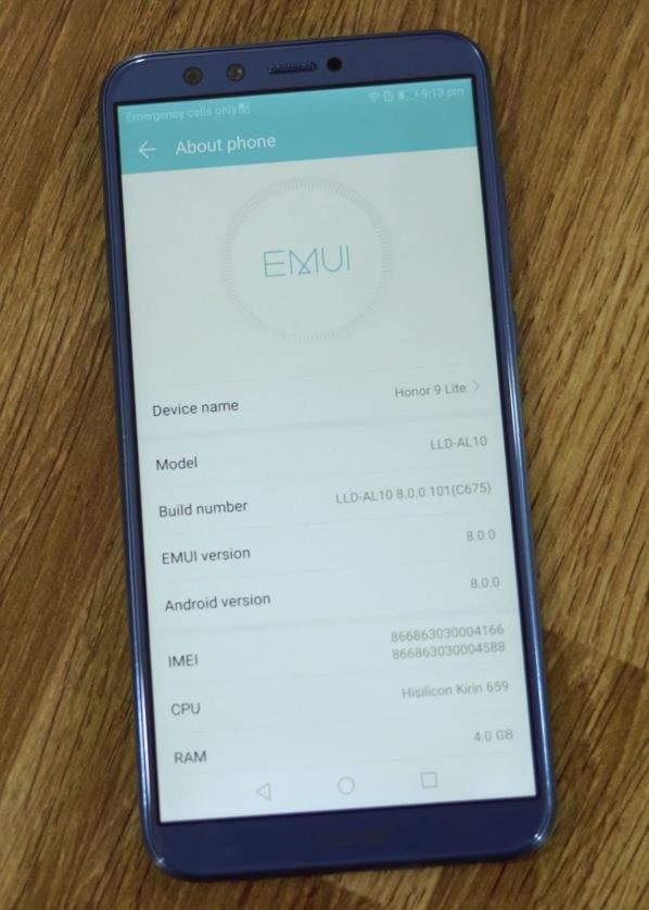 Huawei Honor 9 Lite EMUI