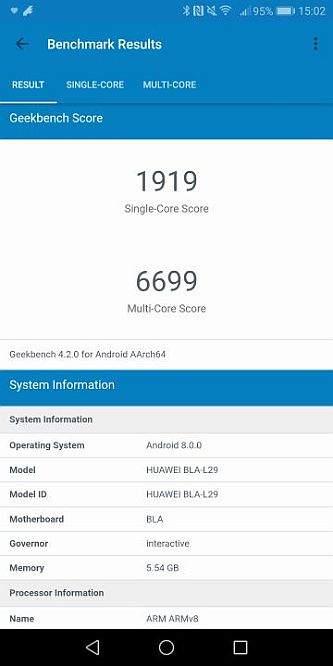 Huawei Mate 10 pro benchmark