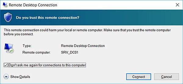 Remote Desktop Connection 7