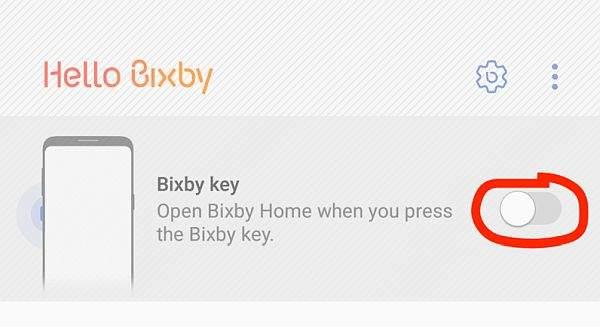 bixby disable