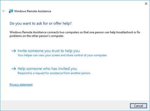 remote assistance 2