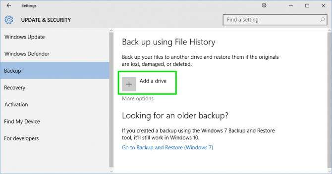 Back up using File History – On